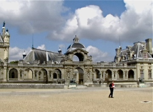 chantilly musee entrance (humans, not horses)