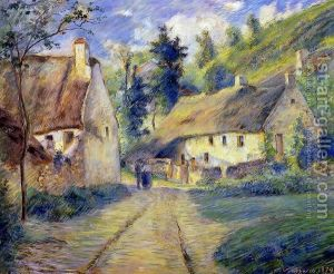 Cottages-At-Auvers,-Near-Pontoise