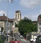 view of church rue general dg