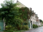 downtown giverny with trees