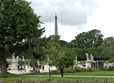 eiffel from tuilleries