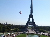 trocadero view with balloons