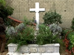wide shot of monet's grave