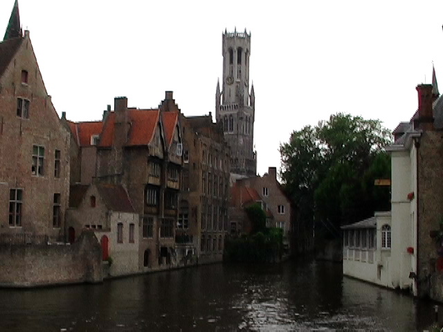 bruges canal church