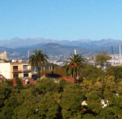 alps from antibes november 2013