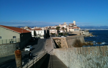 antibes old town from ramparts